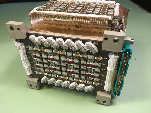 Saturn Instrument Unit launch vehicle digital computer magnetic core memory module